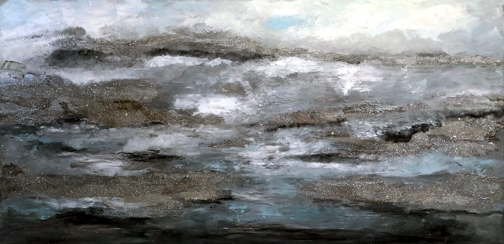 Spring Waves 46″ x22″